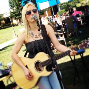 Roxie Randle at Blue Sky Vineyard