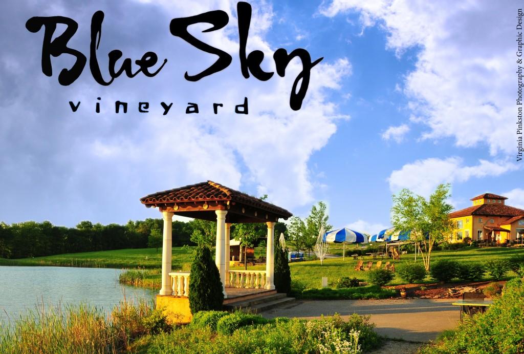 Blue Sky Vineyard Wedding Gazebo