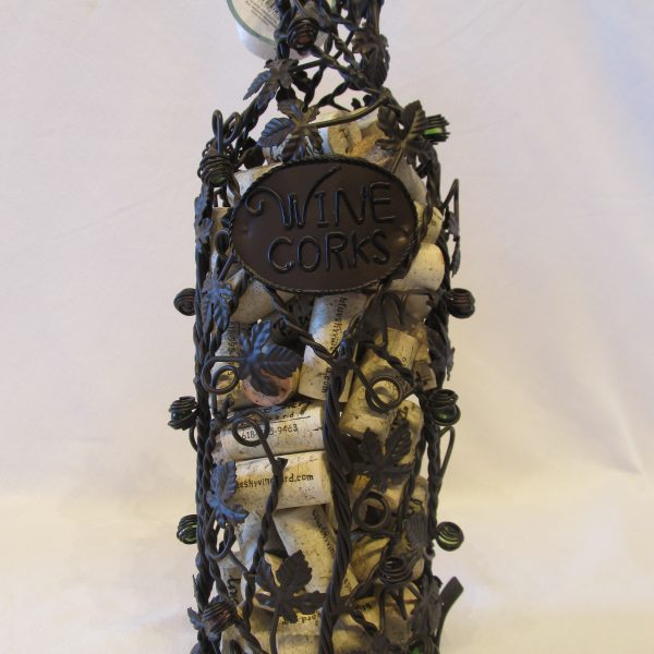 Wine Bottle Cork Cage with Vines